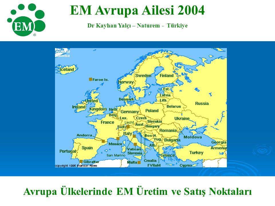 EM Avrupa Ailesi 2004 Avrupa Ülkelerinde EM Üretim ve Satış Noktaları