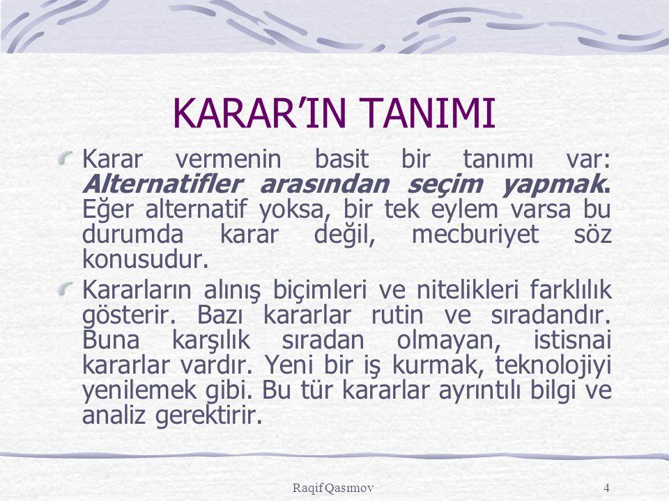 KARAR'IN TANIMI