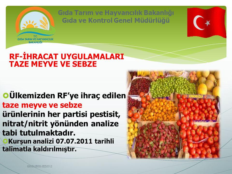 Gıda Tarım ve Hayvancılık Bakanlığı Gıda ve Kontrol Genel Müdürlüğü