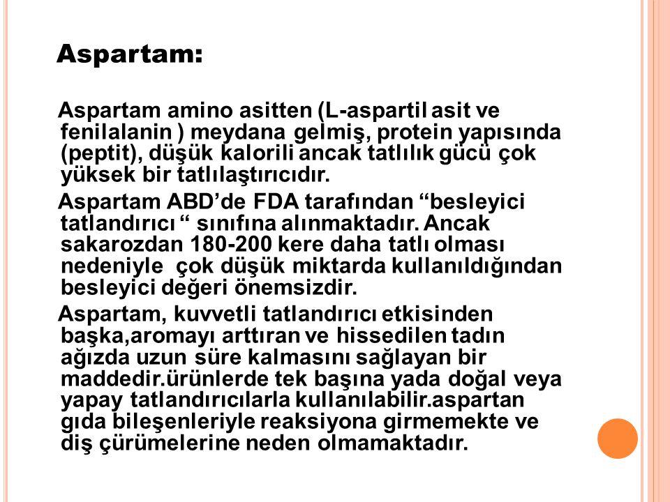 Aspartam: