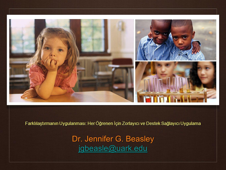 Dr. Jennifer G. Beasley jgbeasle@uark.edu