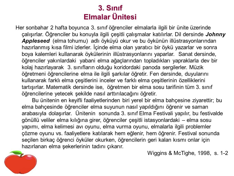 3. Sınıf Elmalar Ünitesi.