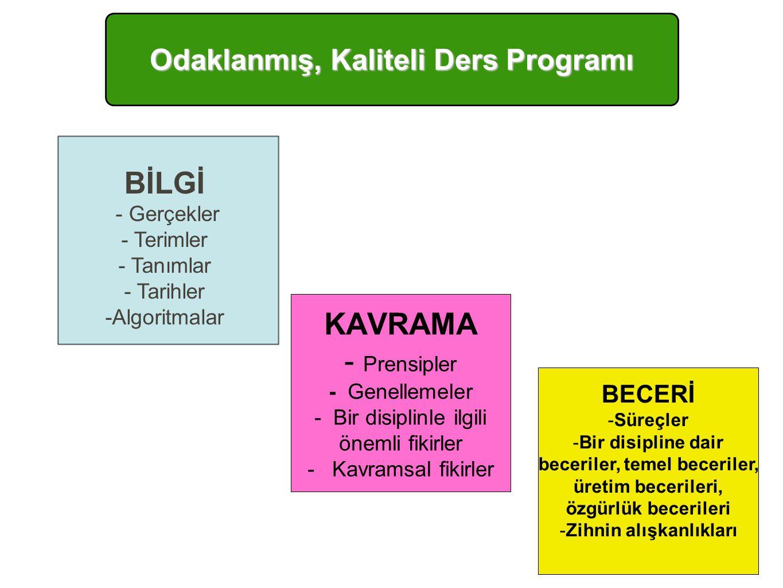 Odaklanmış, Kaliteli Ders Programı