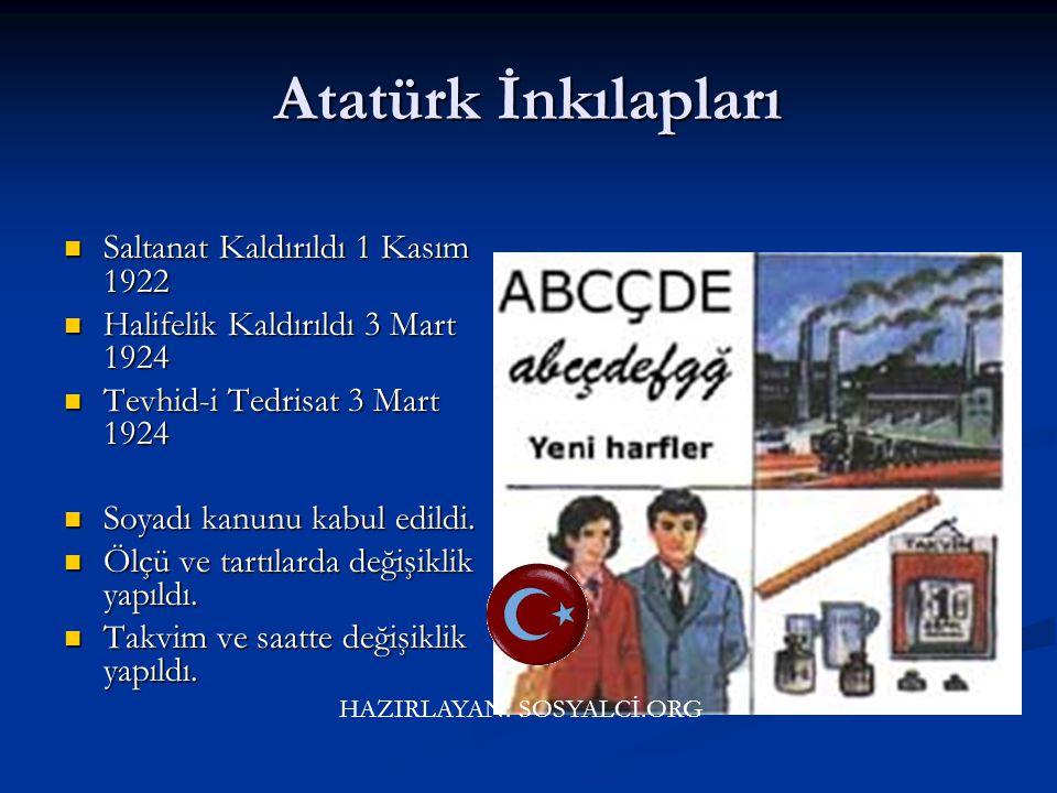 Atatürk İnkılapları Saltanat Kaldırıldı 1 Kasım 1922