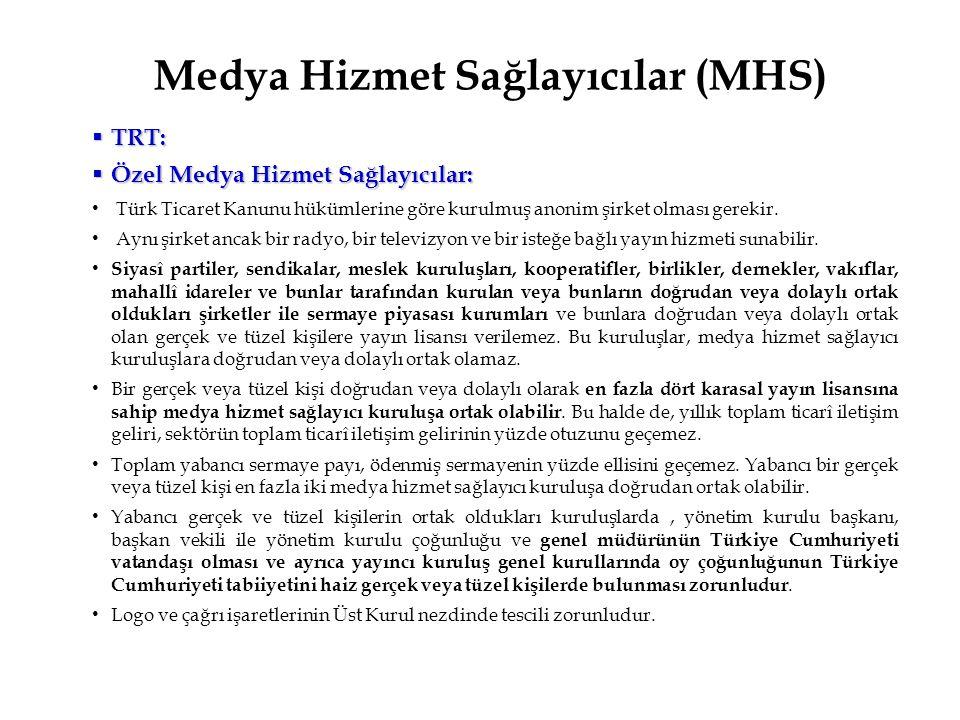 Medya Hizmet Sağlayıcılar (MHS)