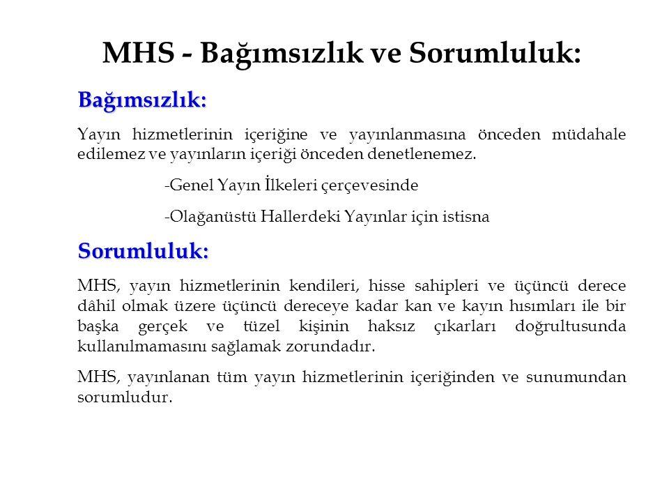 MHS - Bağımsızlık ve Sorumluluk: