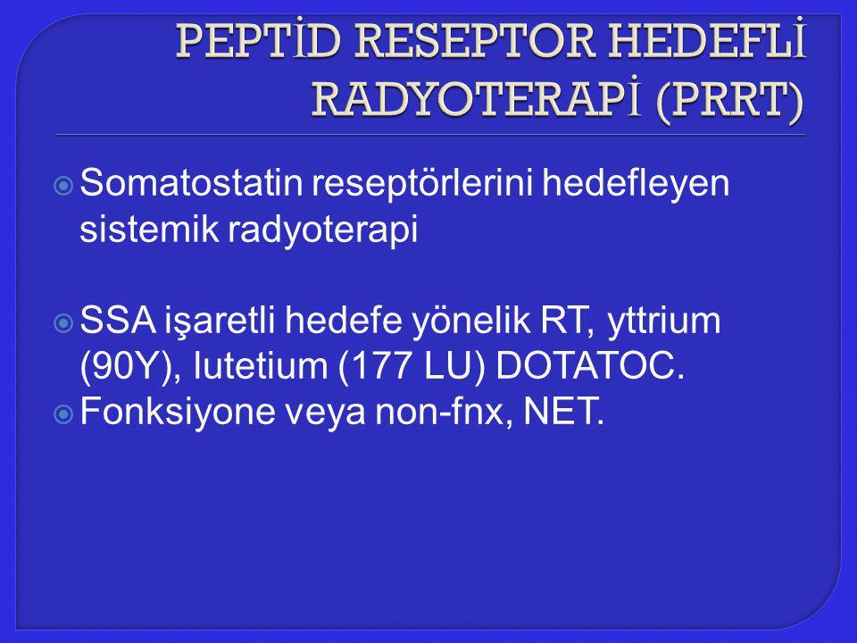 PEPTİD RESEPTOR HEDEFLİ RADYOTERAPİ (PRRT)
