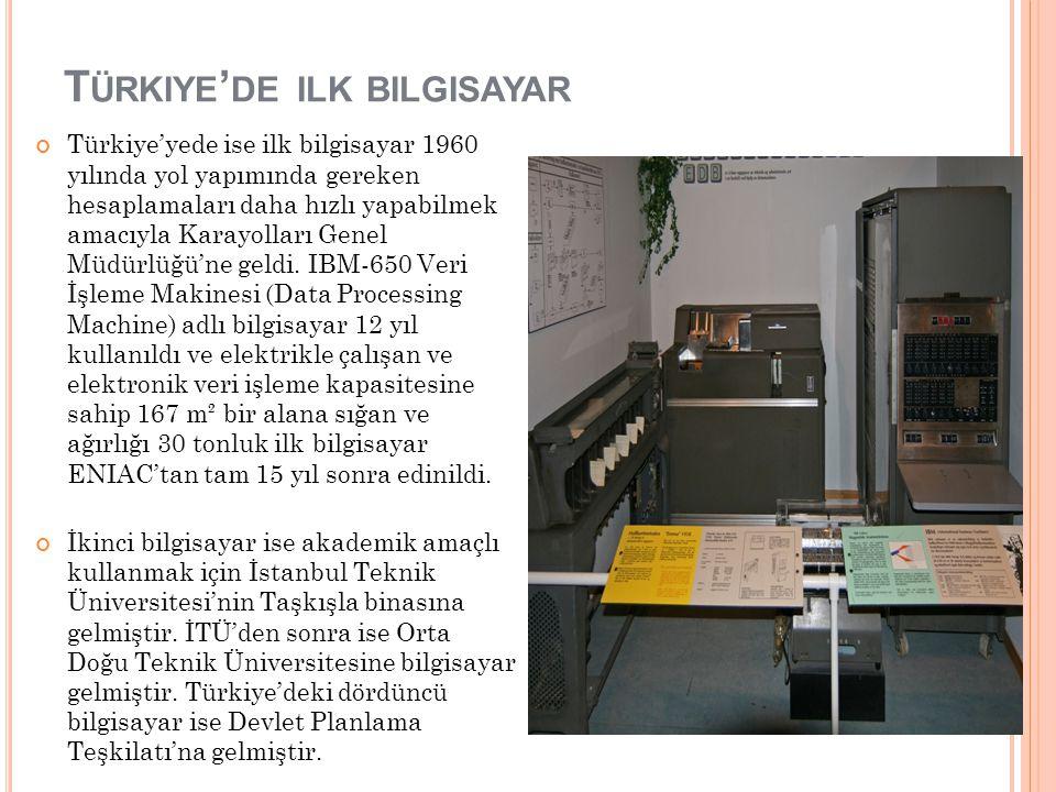 Türkiye'de ilk bilgisayar