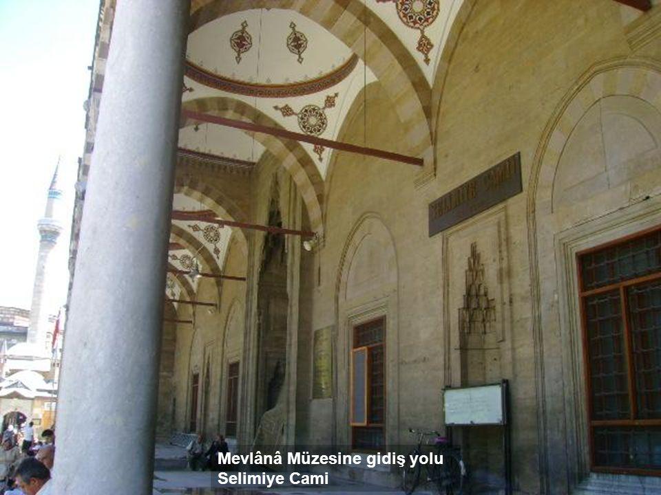 Mevlânâ Müzesine gidiş yolu Selimiye Cami