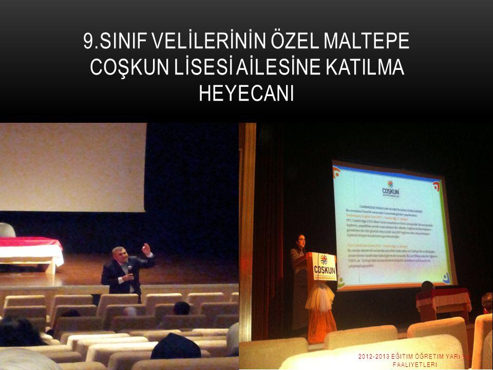2012-2013 Eğitim Öğretim Yarı yıl Faaliyetleri