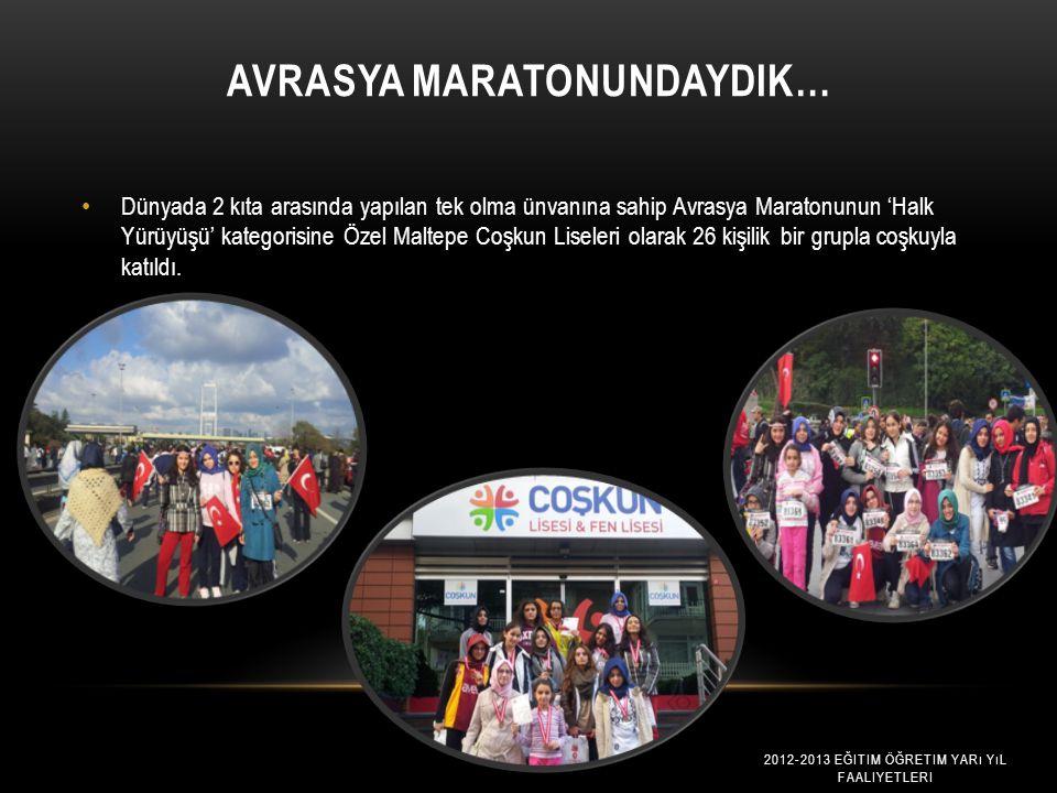 Avrasya Maratonundaydik…