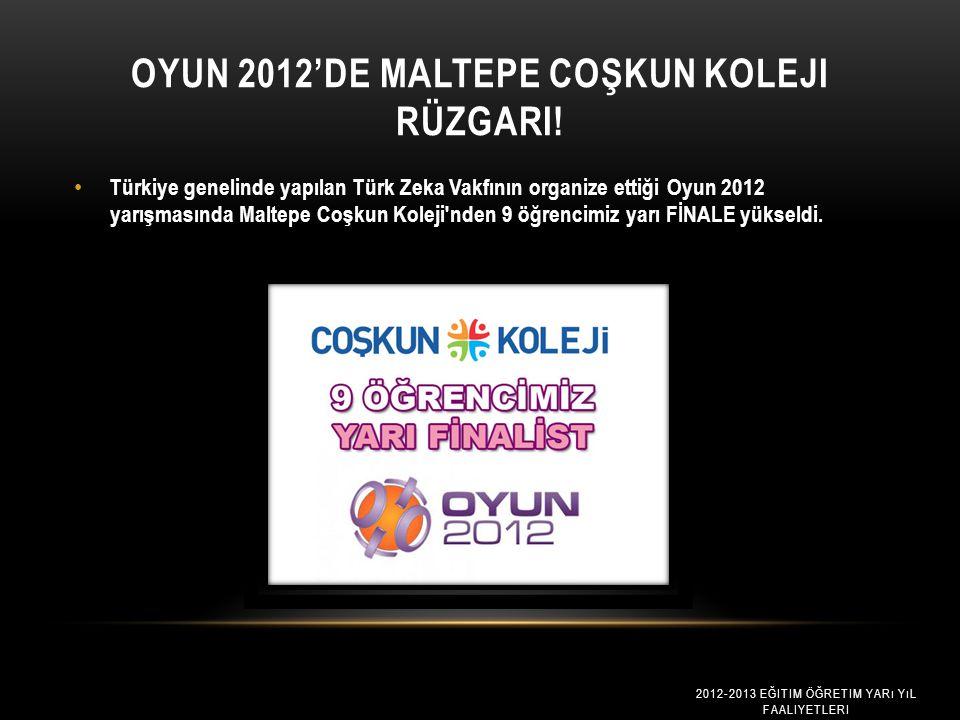 Oyun 2012'de Maltepe Coşkun Koleji Rüzgari!