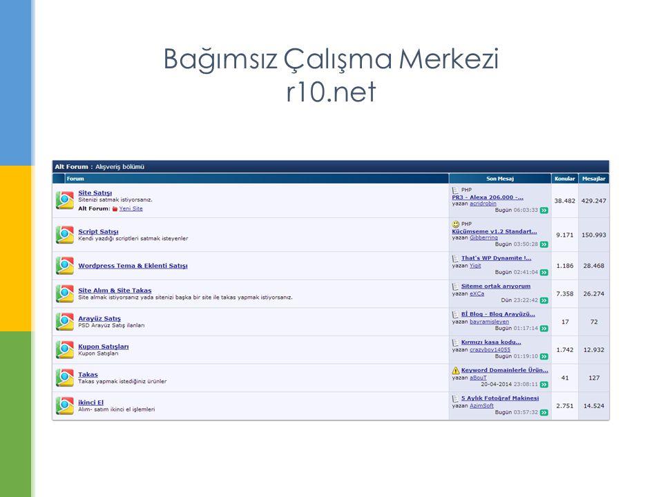 Bağımsız Çalışma Merkezi r10.net