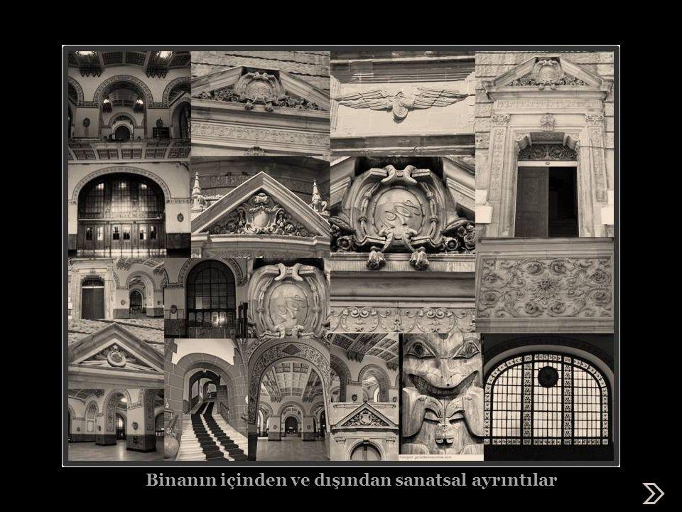 Binanın içinden ve dışından sanatsal ayrıntılar