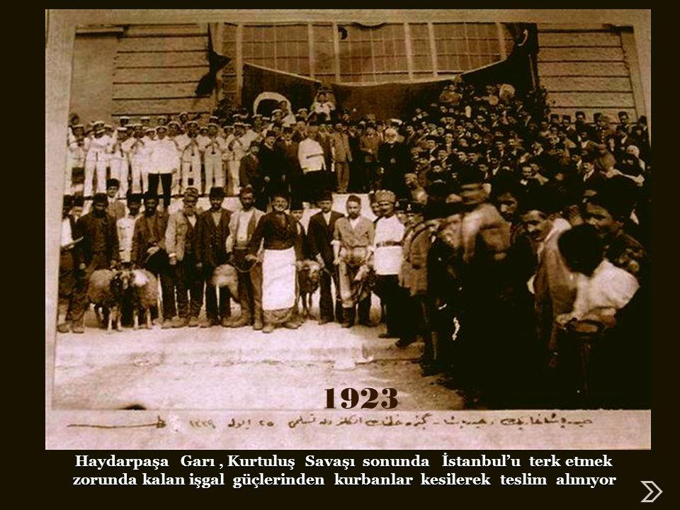 1923 Haydarpaşa Garı , Kurtuluş Savaşı sonunda İstanbul'u terk etmek