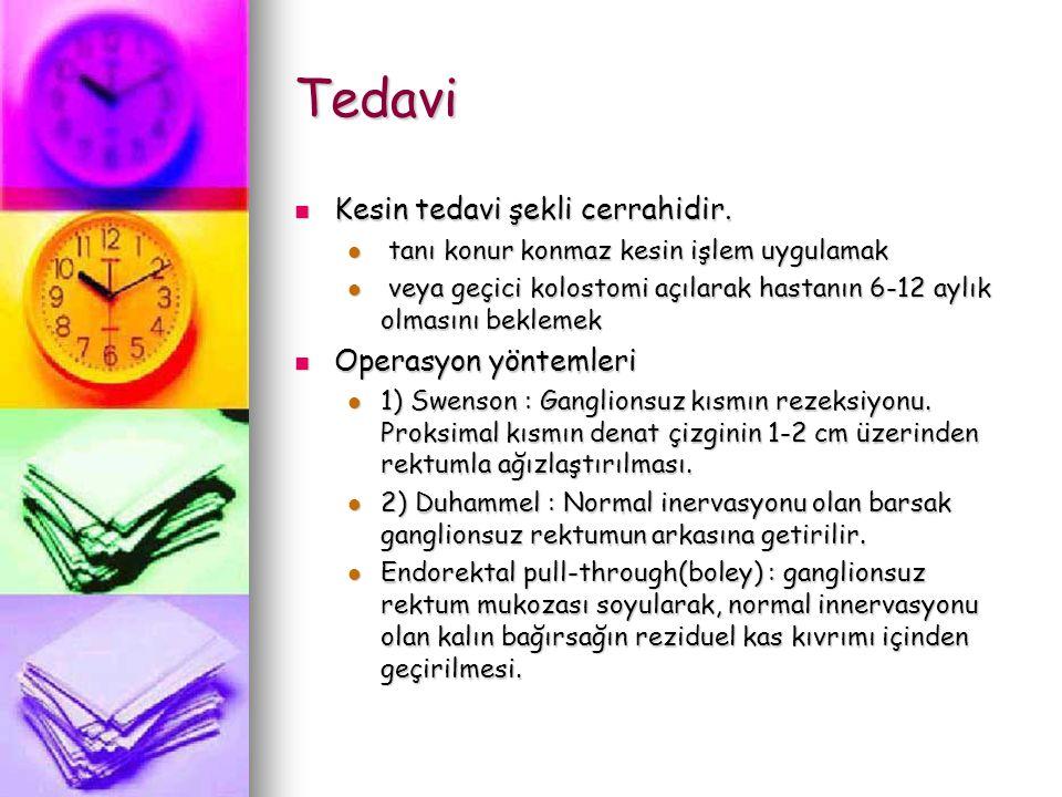 Tedavi Kesin tedavi şekli cerrahidir. Operasyon yöntemleri