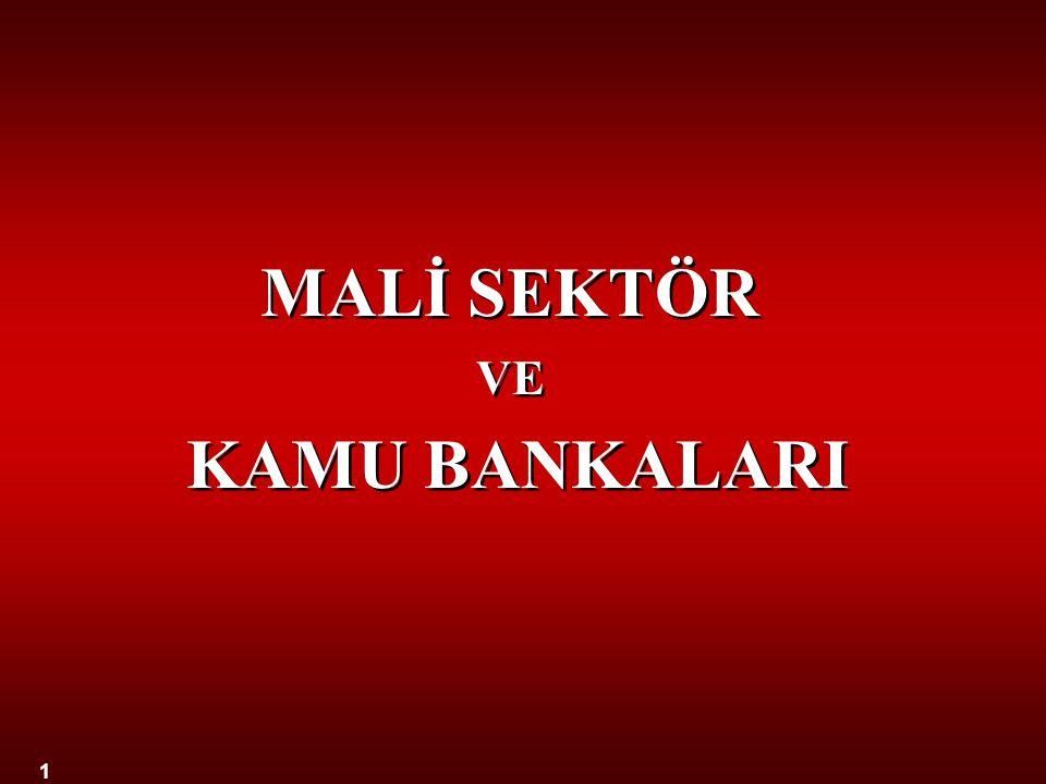 MALİ SEKTÖR VE KAMU BANKALARI