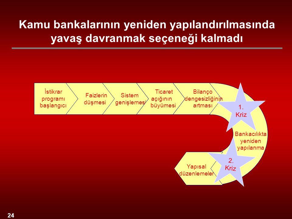 Kamu bankalarının yeniden yapılandırılmasında yavaş davranmak seçeneği kalmadı