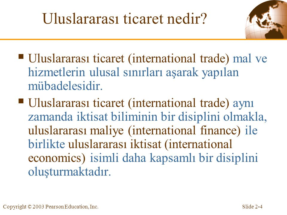 Uluslararası ticaret nedir