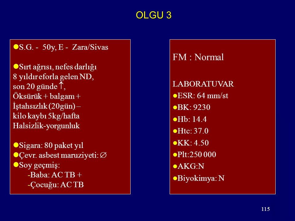 OLGU 3 FM : Normal S.G. - 50y, E - Zara/Sivas