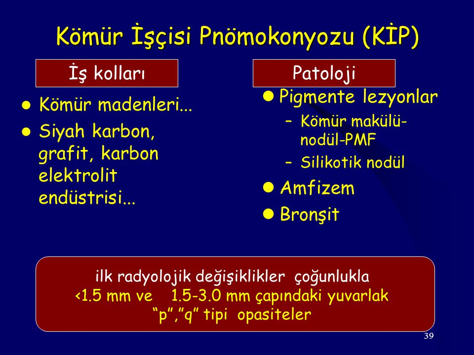 Kömür İşçisi Pnömokonyozu (KİP)