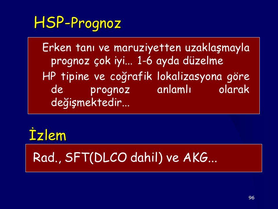 HSP-Prognoz İzlem Rad., SFT(DLCO dahil) ve AKG...