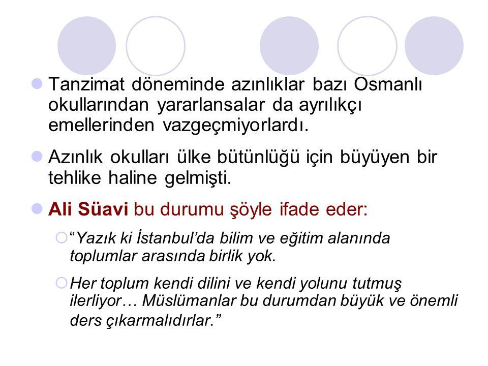 Ali Süavi bu durumu şöyle ifade eder: