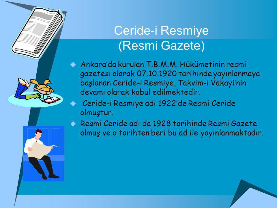 Ceride-i Resmiye (Resmi Gazete)