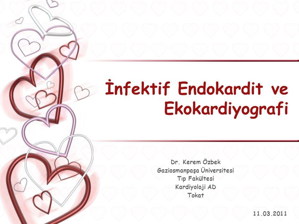 İnfektif Endokardit ve Ekokardiyografi