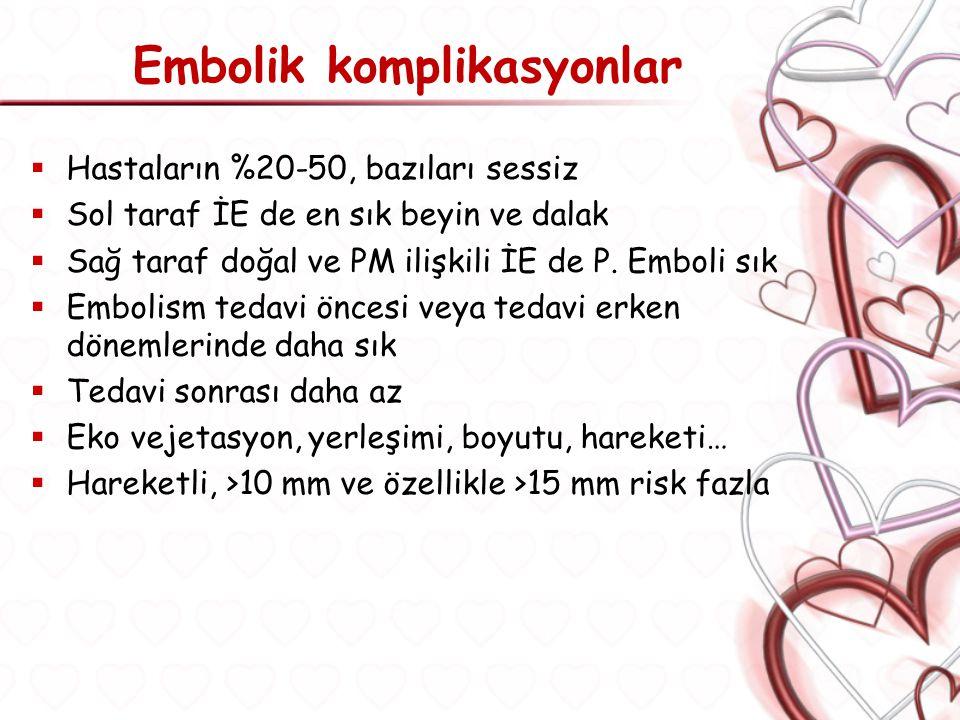 Embolik komplikasyonlar