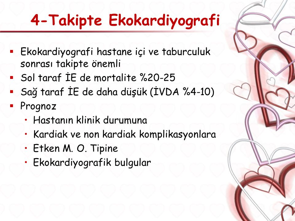4-Takipte Ekokardiyografi