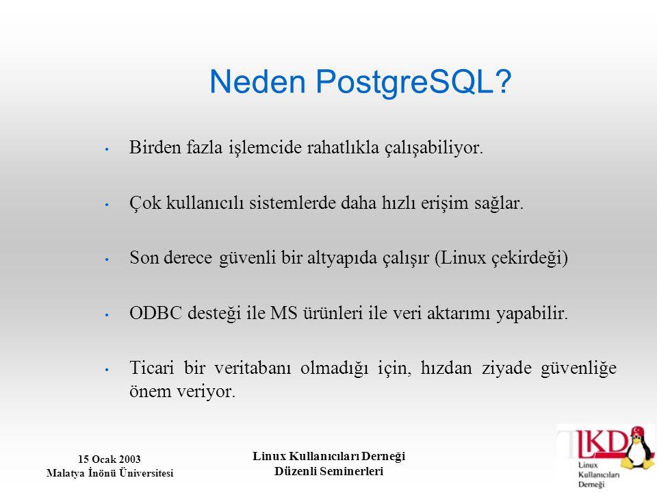 Neden PostgreSQL Birden fazla işlemcide rahatlıkla çalışabiliyor.