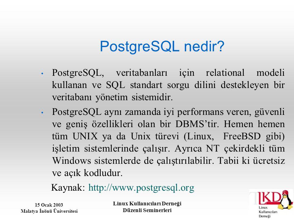 PostgreSQL nedir