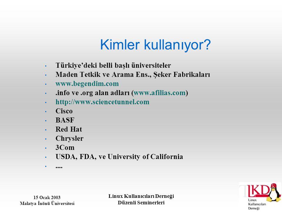 Kimler kullanıyor Türkiye'deki belli başlı üniversiteler