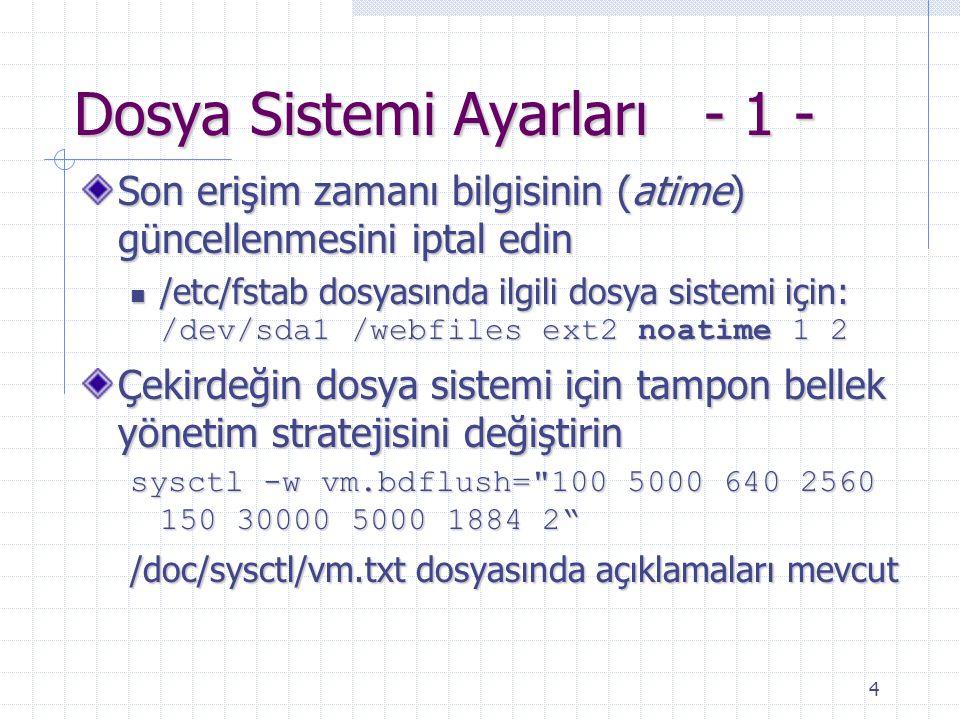 Dosya Sistemi Ayarları - 1 -