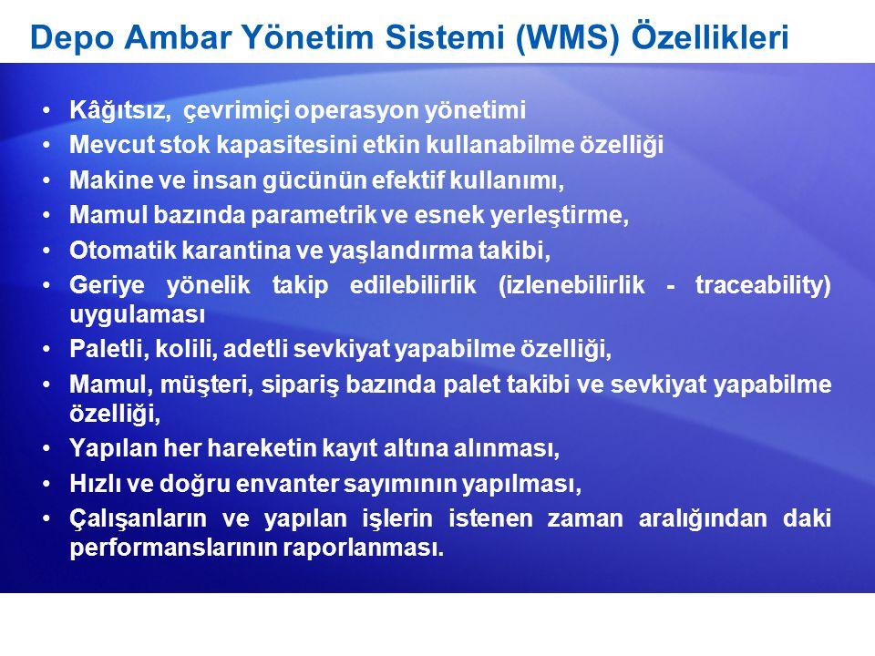 Depo Ambar Yönetim Sistemi (WMS) Özellikleri
