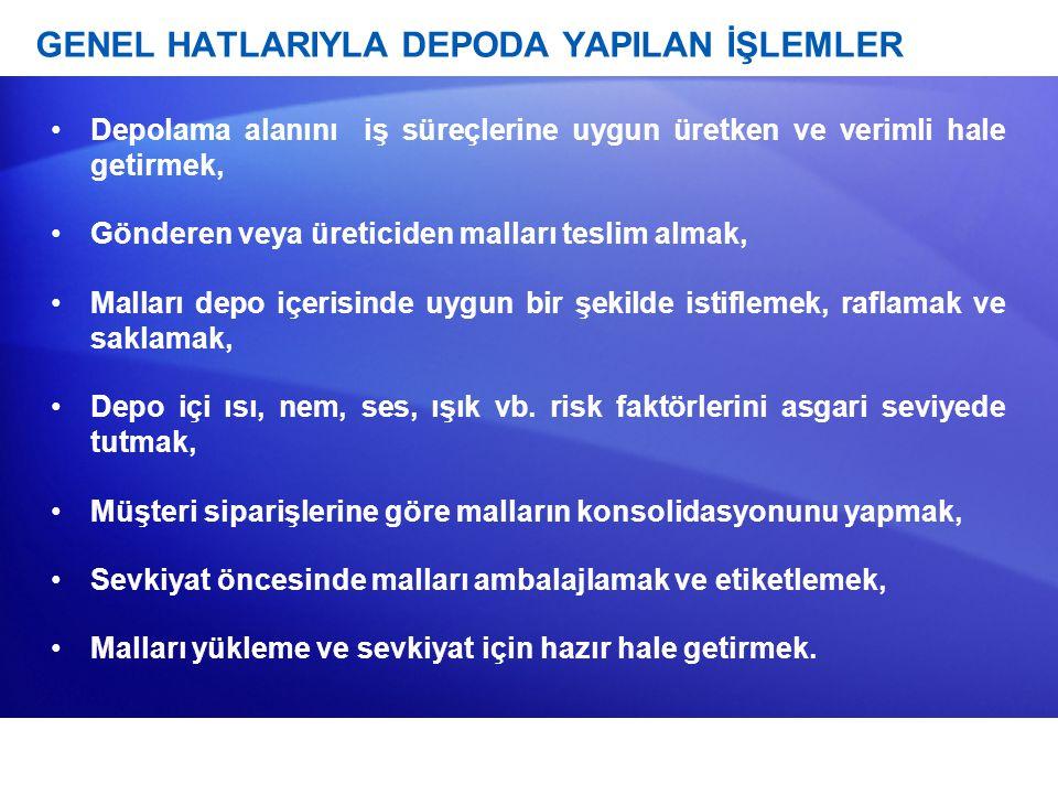 GENEL HATLARIYLA DEPODA YAPILAN İŞLEMLER