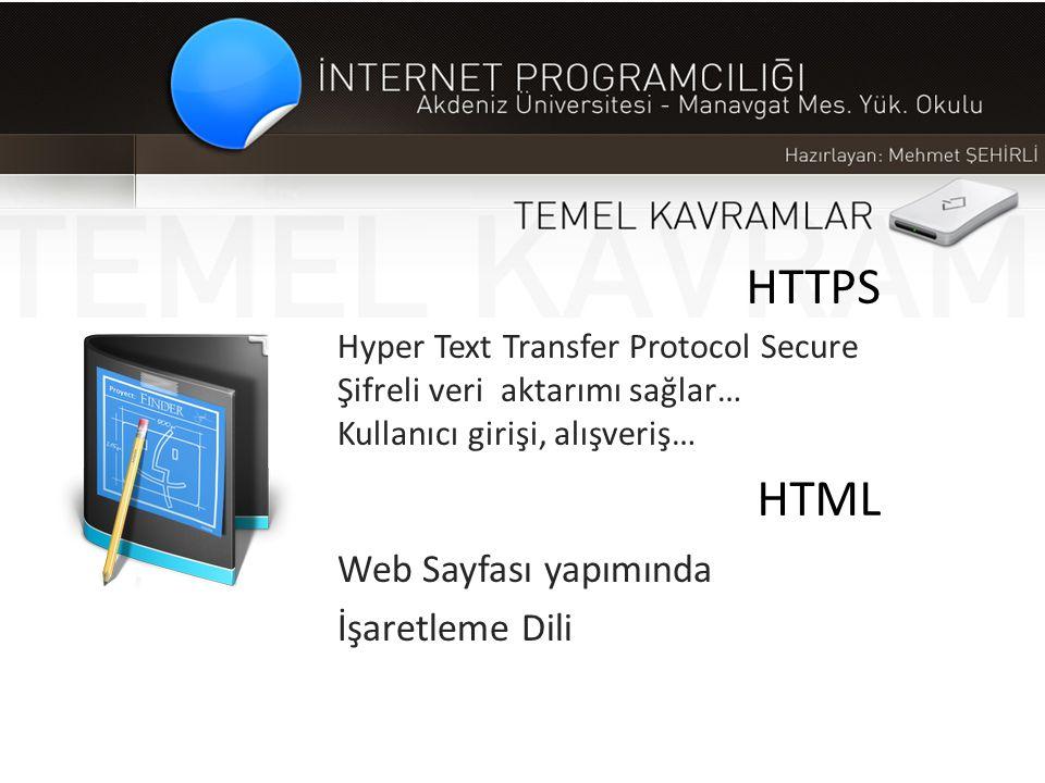 HTTPS HTML Web Sayfası yapımında İşaretleme Dili