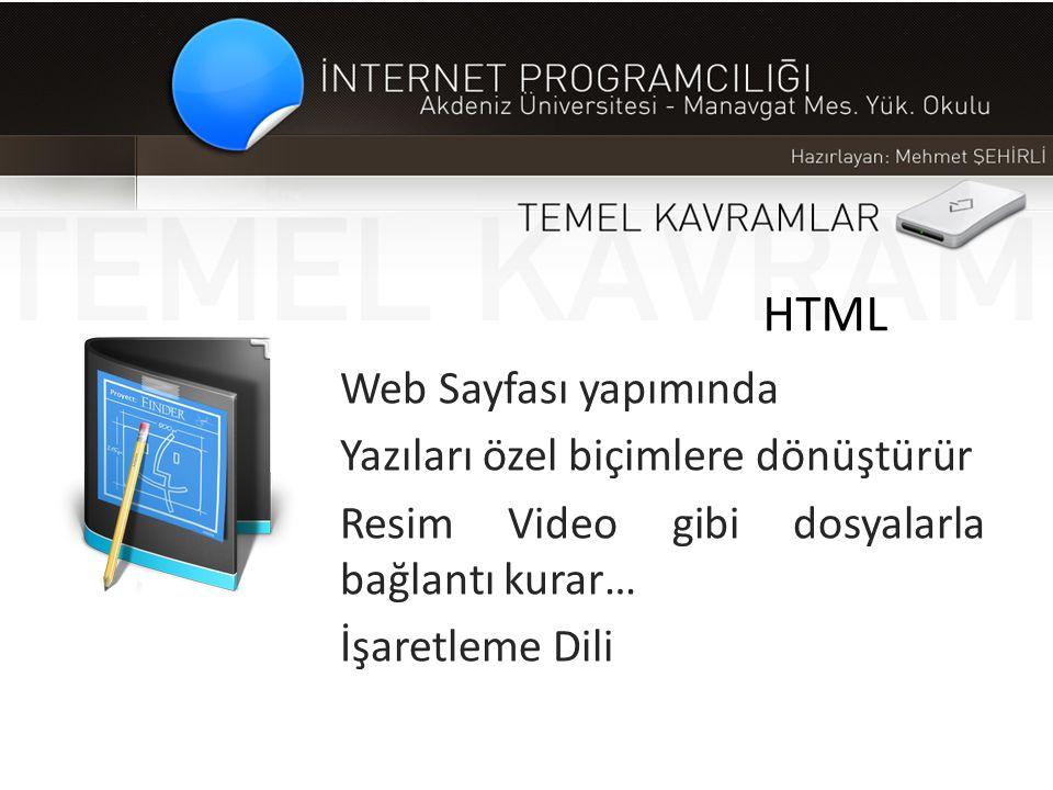 HTML Web Sayfası yapımında Yazıları özel biçimlere dönüştürür