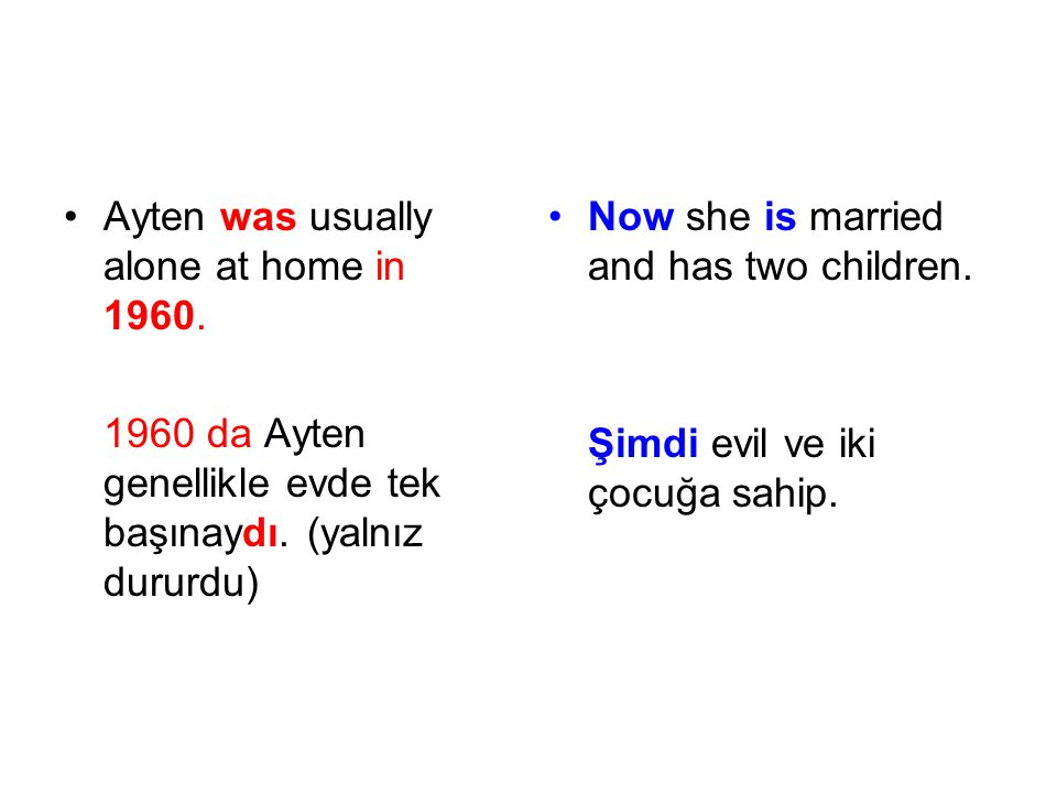 Ayten was usually alone at home in 1960.