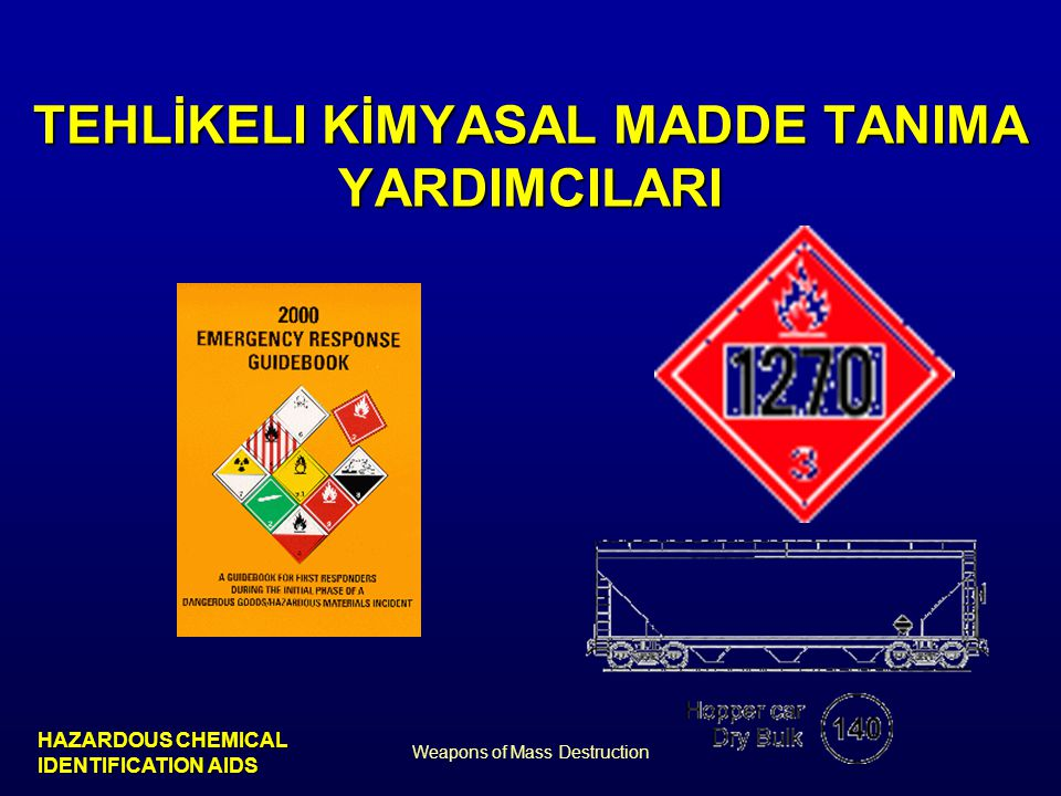 TEHLİKELI KİMYASAL MADDE TANIMA YARDIMCILARI