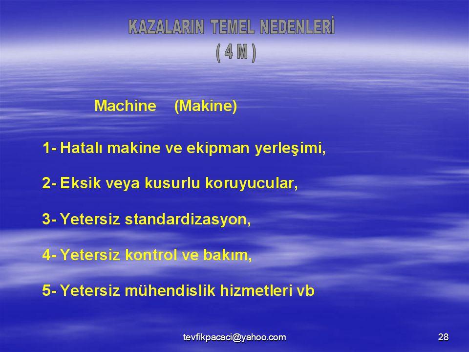 KAZALARIN TEMEL NEDENLERİ
