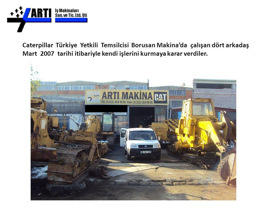 Caterpillar Türkiye Yetkili Temsilcisi Borusan Makina'da çalışan dört arkadaş