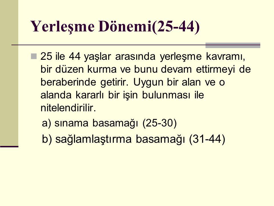 Yerleşme Dönemi(25-44)
