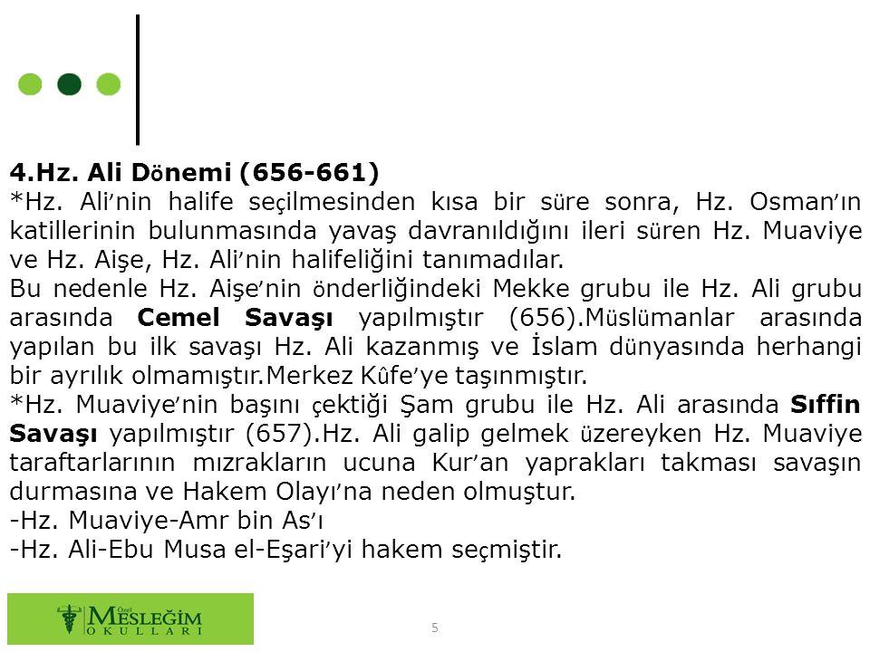 4.Hz. Ali Dönemi (656-661)