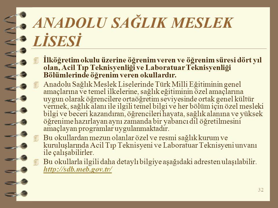 ANADOLU SAĞLIK MESLEK LİSESİ