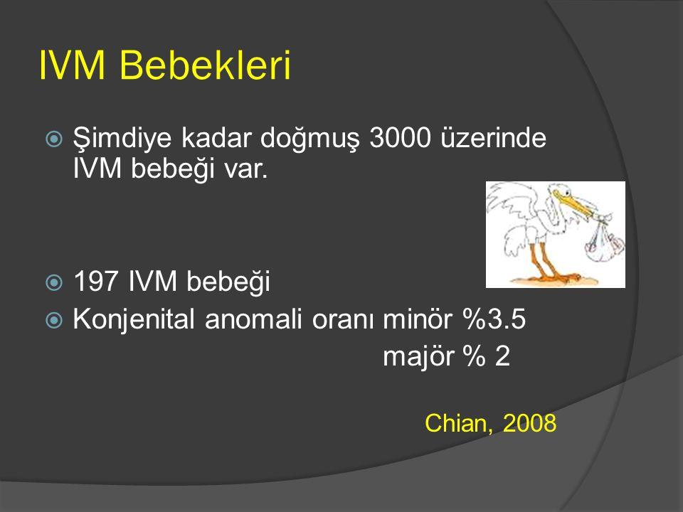 IVM Bebekleri Şimdiye kadar doğmuş 3000 üzerinde IVM bebeği var.