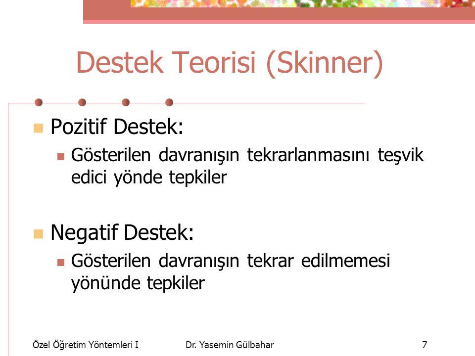 Destek Teorisi (Skinner)
