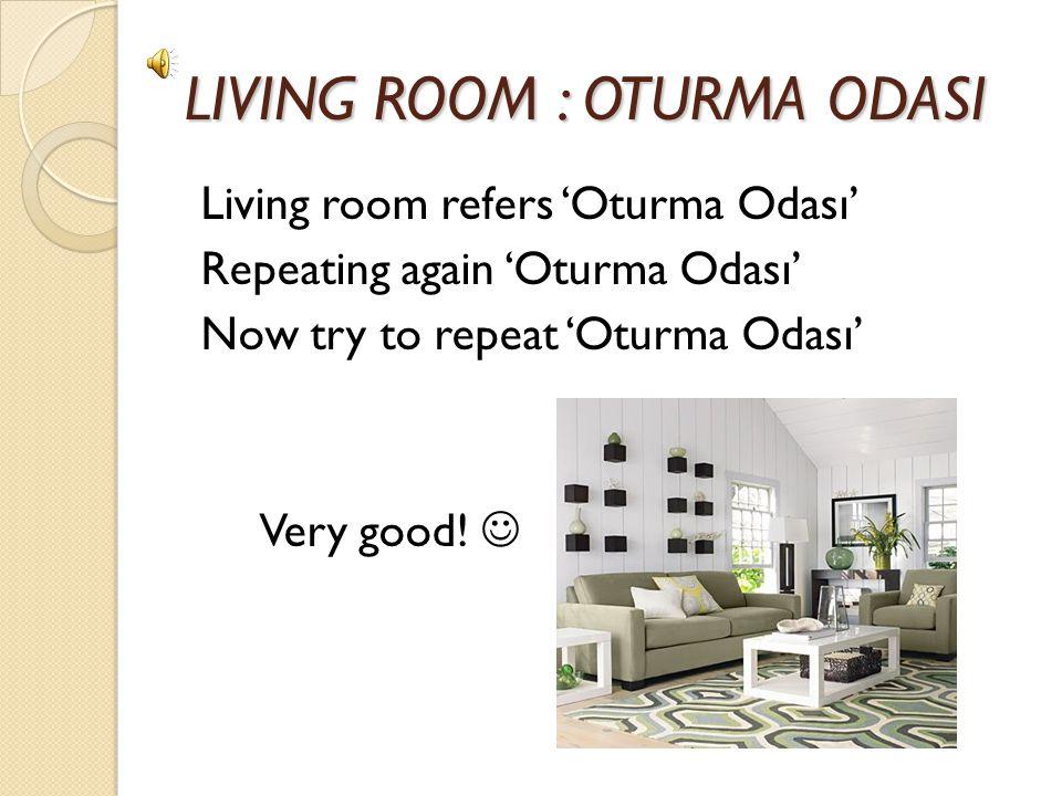 LIVING ROOM : OTURMA ODASI