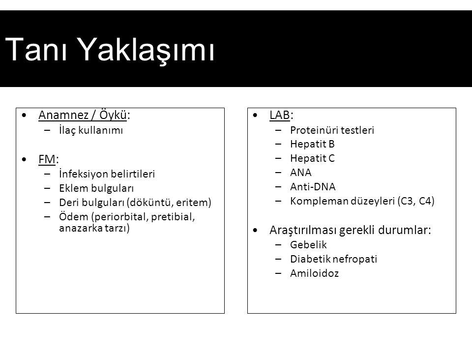 Tanı Yaklaşımı Anamnez / Öykü: FM: LAB: